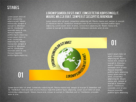 Globe Options and Stages, Slide 10, 02723, Stage Diagrams — PoweredTemplate.com