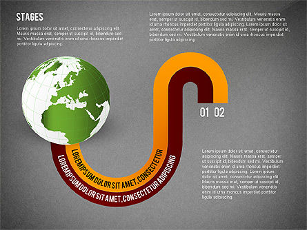 Globe Options and Stages, Slide 12, 02723, Stage Diagrams — PoweredTemplate.com