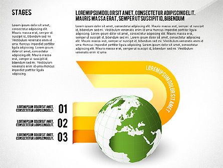 Globe Options and Stages, Slide 7, 02723, Stage Diagrams — PoweredTemplate.com