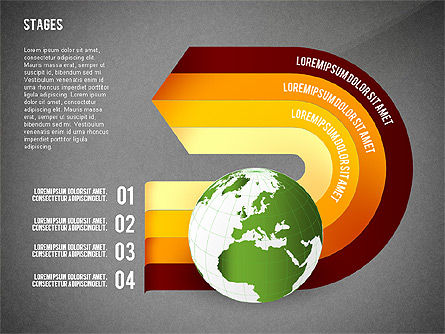 Globe Options and Stages, Slide 9, 02723, Stage Diagrams — PoweredTemplate.com