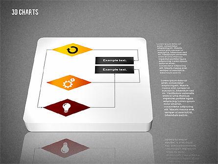 3D Process Flow Chart, Slide 13, 02724, Flow Charts — PoweredTemplate.com