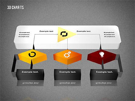 3D Process Flow Chart, Slide 15, 02724, Flow Charts — PoweredTemplate.com