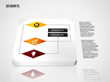 3D Process Flow Chart, Slide 5, 02724, Flow Charts — PoweredTemplate.com