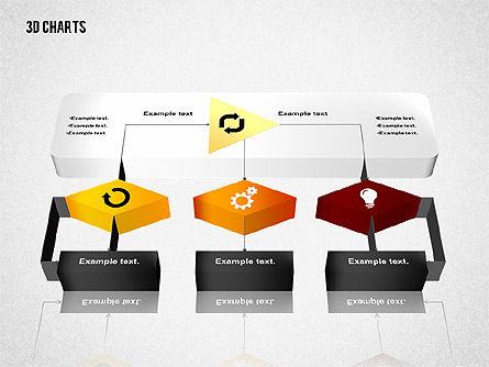 3D Process Flow Chart, Slide 7, 02724, Flow Charts — PoweredTemplate.com