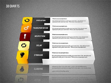 3D Process Flow Chart, Slide 9, 02724, Flow Charts — PoweredTemplate.com