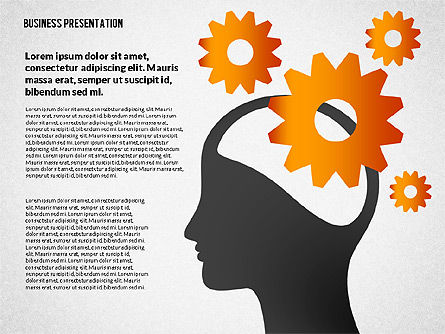 Presentation with Shapes and Silhouettes, Slide 2, 02725, Silhouettes — PoweredTemplate.com