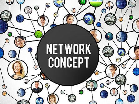 Business Network Concept Presentation Template, 02726, Organizational Charts — PoweredTemplate.com