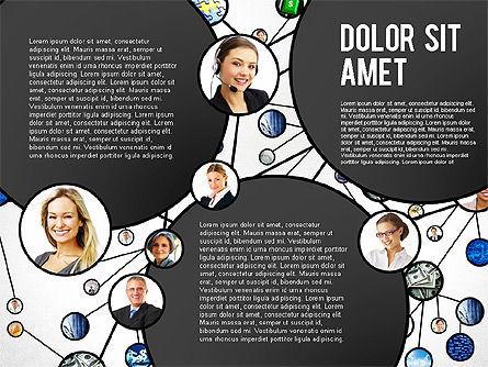 Business Network Concept Presentation Template, Slide 2, 02726, Organizational Charts — PoweredTemplate.com