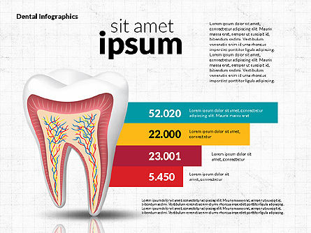 Dental Infographics, 02727, Medical Diagrams and Charts — PoweredTemplate.com