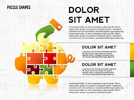 Shapes of Jigsaw Puzzle Pieces, Slide 4, 02728, Puzzle Diagrams — PoweredTemplate.com