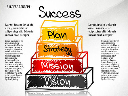 Success Pyramid Concept, 02730, Stage Diagrams — PoweredTemplate.com