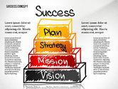 Stage Diagrams: Success Pyramid Concept #02730