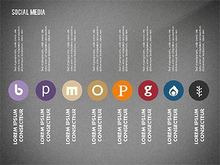 Social Media Energetic Presentation Template, Slide 15, 02732, Presentation Templates — PoweredTemplate.com