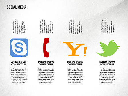 Social Media Energetic Presentation Template, Slide 6, 02732, Presentation Templates — PoweredTemplate.com