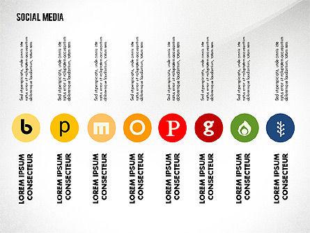 Social Media Energetic Presentation Template, Slide 7, 02732, Presentation Templates — PoweredTemplate.com