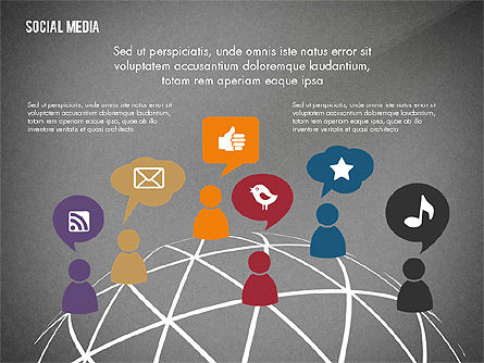 Social Media Energetic Presentation Template, Slide 9, 02732, Presentation Templates — PoweredTemplate.com
