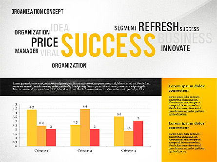 Organization Presentation Template with Data Driven Charts, Slide 3, 02733, Presentation Templates — PoweredTemplate.com