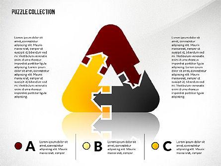 Puzzle Silhouette Connections, Slide 3, 02734, Puzzle Diagrams — PoweredTemplate.com
