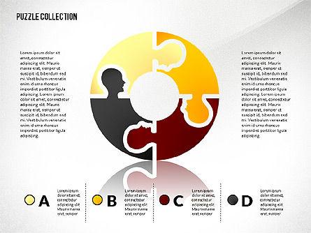 Puzzle Silhouette Connections, Slide 4, 02734, Puzzle Diagrams — PoweredTemplate.com