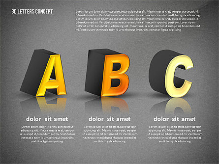3D Letters, Slide 14, 02735, Education Charts and Diagrams — PoweredTemplate.com