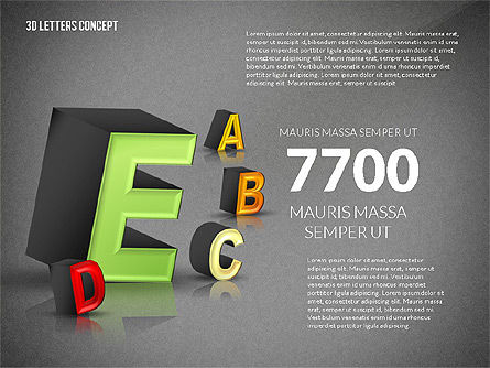 3D Letters, Slide 15, 02735, Education Charts and Diagrams — PoweredTemplate.com