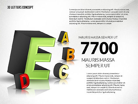 3D Letters, Slide 7, 02735, Education Charts and Diagrams — PoweredTemplate.com