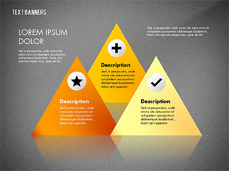 Creative Text Banners with Icons, Slide 11, 02737, Text Boxes — PoweredTemplate.com