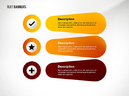 Creative Text Banners with Icons, Slide 7, 02737, Text Boxes — PoweredTemplate.com