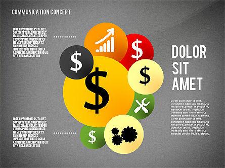 Communication Presentation Concept, Slide 10, 02738, Shapes — PoweredTemplate.com