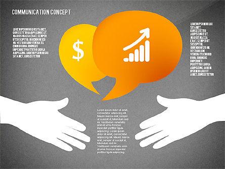 Communication Presentation Concept, Slide 11, 02738, Shapes — PoweredTemplate.com