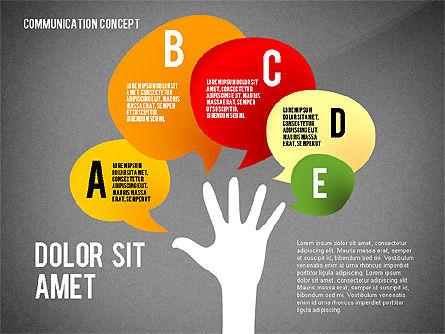 Communication Presentation Concept, Slide 12, 02738, Shapes — PoweredTemplate.com