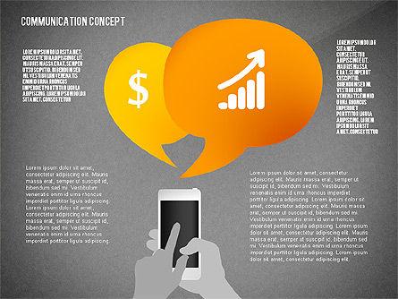 Communication Presentation Concept, Slide 14, 02738, Shapes — PoweredTemplate.com