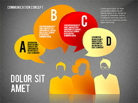 Communication Presentation Concept, Slide 15, 02738, Shapes — PoweredTemplate.com