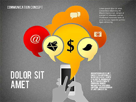 Communication Presentation Concept, Slide 16, 02738, Shapes — PoweredTemplate.com