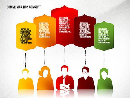 Communication Presentation Concept, Slide 5, 02738, Shapes — PoweredTemplate.com
