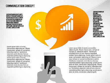Communication Presentation Concept, Slide 6, 02738, Shapes — PoweredTemplate.com