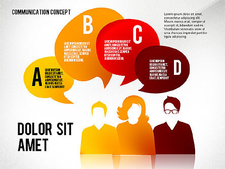 Communication Presentation Concept, Slide 7, 02738, Shapes — PoweredTemplate.com
