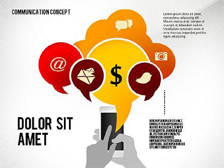 Communication Presentation Concept, Slide 8, 02738, Shapes — PoweredTemplate.com