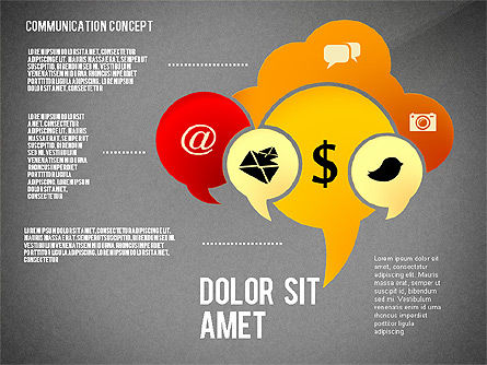 Communication Presentation Concept, Slide 9, 02738, Shapes — PoweredTemplate.com