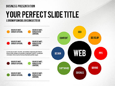 Presentation Templates: Web Promotion Presentation with Data Driven Charts #02740