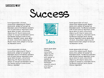 Way to Success Concept, 02743, Stage Diagrams — PoweredTemplate.com