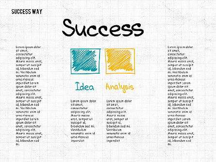 Way to Success Concept, Slide 2, 02743, Stage Diagrams — PoweredTemplate.com