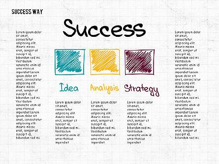 Way to Success Concept, Slide 3, 02743, Stage Diagrams — PoweredTemplate.com