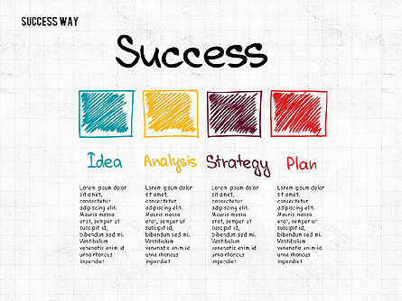 Way to Success Concept, Slide 4, 02743, Stage Diagrams — PoweredTemplate.com