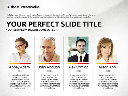 Professional Team Presentation Template, 02744, Presentation Templates — PoweredTemplate.com