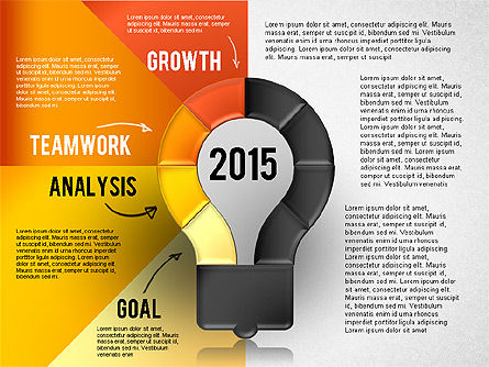 Year Plan Stages Presentation Template, Slide 4, 02745, Stage Diagrams — PoweredTemplate.com