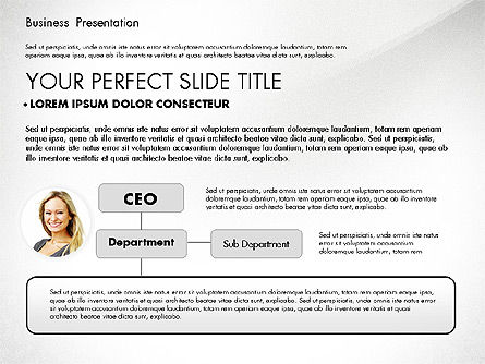 Simple Business Presentation Template, Slide 2, 02747, Business Models — PoweredTemplate.com