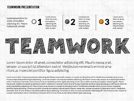 Shapes: Presentasi Teamwork Dengan Gaya Papan Tulis #02748