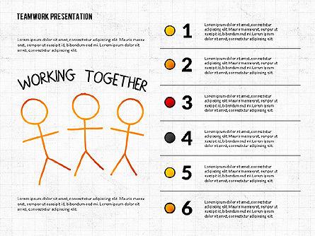 Teamwork Presentation in Chalkboard Style, Slide 2, 02748, Shapes — PoweredTemplate.com