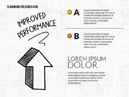 Teamwork Presentation in Chalkboard Style, Slide 3, 02748, Shapes — PoweredTemplate.com
